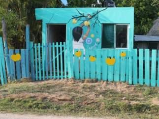 Pueblo mexicano con el arte urbano