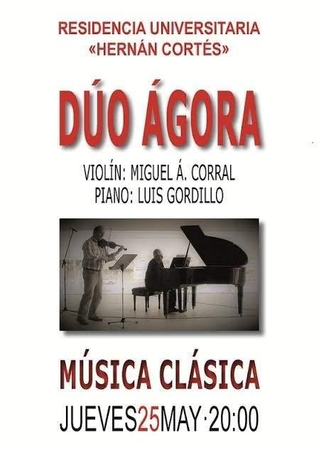 El d o gora ofrece un recital de m sica cl sica en la for Residencia universitaria hernan cortes