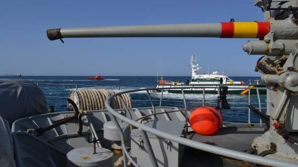 Buque 'Medas' de la Armada Española.