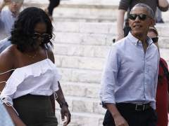 Los Obama, estrellas en Italia