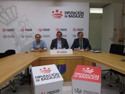 Manuel Antonio Díaz, Antonio García Salas, y Álvaro Jiménez