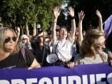 Una manifestación en Madrid exige más fondos para luchar contra la violencia machista