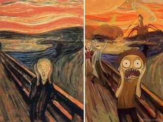 Pinturas clásicas reinterpretadas con un toque 'freak'