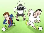 El regate de Messi y Cristiano
