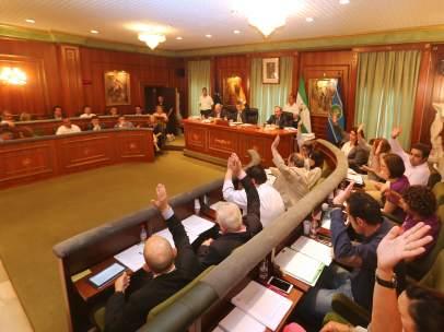 Pleno del Ayuntamiento de Marbella. Mayo
