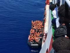 Rescatados 1.100 inmigrantes en el Mediterráneo en un solo día