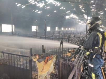 Incendio en Puerto Lumbreras