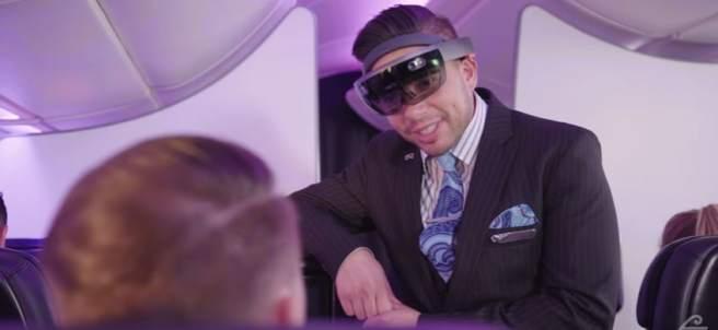 Gafas de VR en vuelos