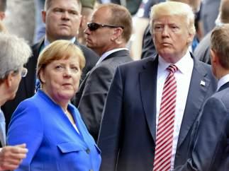Trump valora sacar a EE UU del acuerdo por el clima entre reproches de Merkel en el G-7