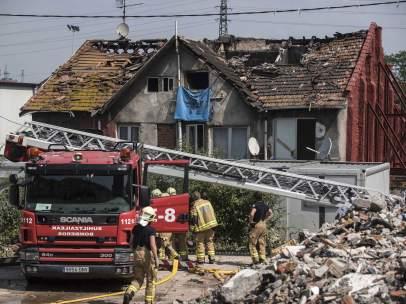 Incendio en el barrio de Zorroza, Bilbao