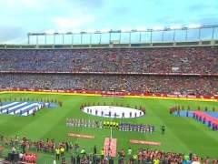 Sonora pitada al himno en la final de Copa entre Barça y Alavés