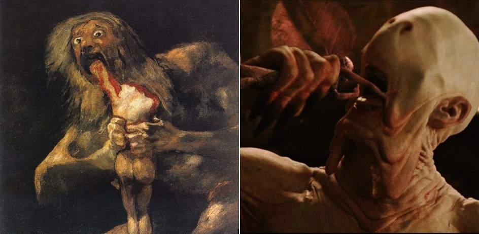 Resultado de imagen para saturno devorando a su hijo el laberinto del fauno