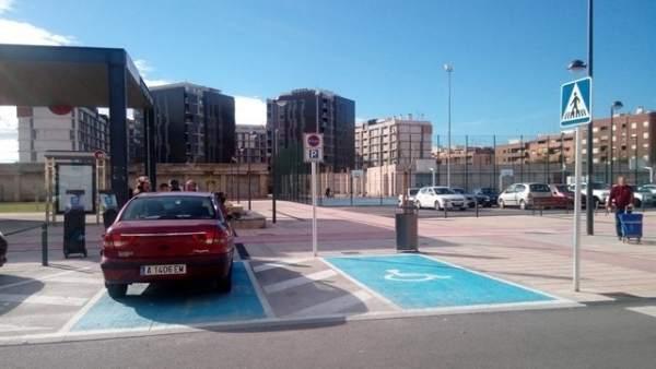 Imagen de archivo de un aparcamiento para discapacitados