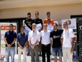 Podio del III Duatlón 'Mancomunidad Islantilla Golf Resort'
