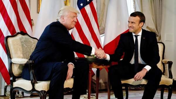 Trump y Macron