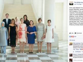 La Casa Blanca omite en Facebook el nombre del marido del 'premier' de Luxemburgo