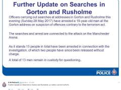 Detenido un joven de 19 años por el atentado del Manchester Arena