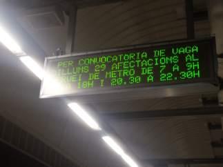 El metro de Barcelona registra una nueva jornada de huelga este lunes