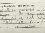 Respuesta increíble a un profesor
