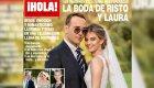 La primera foto oficial de Risto y Laura en su boda