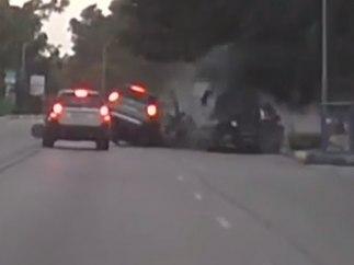 Brutal accidente en Puerto Banús
