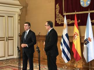 Feijóo se reúne con el presidente de la Cámara de Diputados de Uruguay