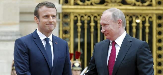 Macron y Putin