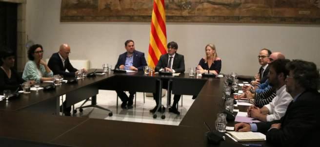 Reunión de la cumbre por el referéndum.