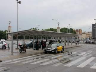 Sin taxis en la Estación de Sants