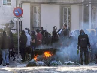 Disturbios por el desalojo de un centro okupa en Santiago