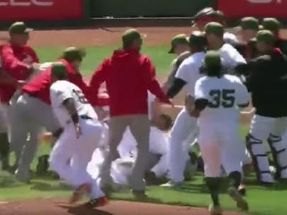 Pelea en béisbol