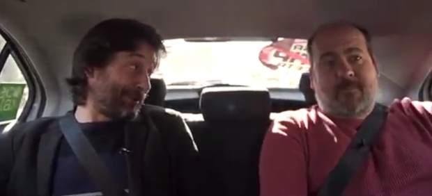 Rafael Mayoral (Podemos) en el vídeo donde acusan a Cabify y Uber de no tributar en España.