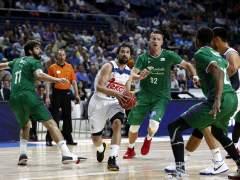 Sergio Llull ante Unicaja en los 'play-offs'