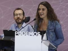 Noelia Vera y Pablo Echenique ofrecen una rueda de prensa