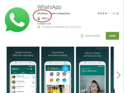 Whatsapp falso