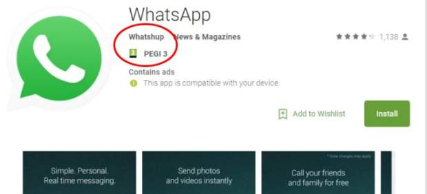 Whatsapp false