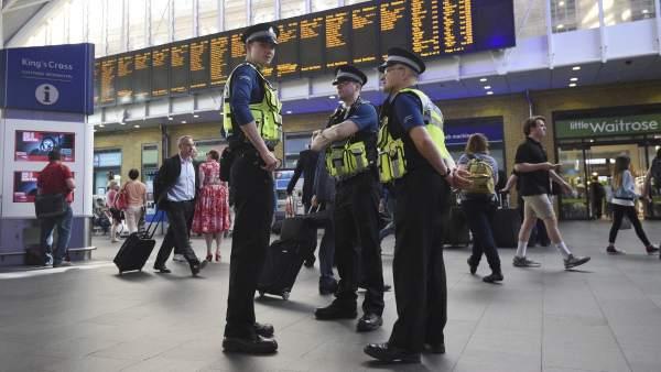 Agentes de policía en Londres