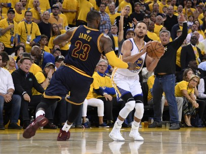 Golden State Warriors Stephen Curry Cleveland Cavaliers LeBron James