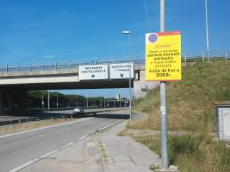 Autovía C-31 a su paso por Castelldefels.
