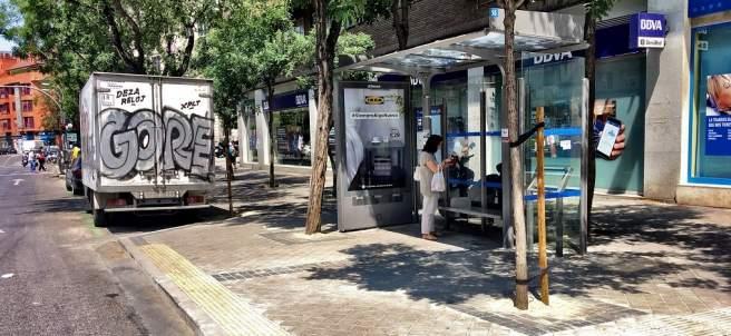 Parada de autobús accesible