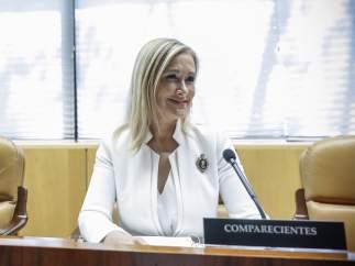 Cristina Cifuentes en la comisión de investigación