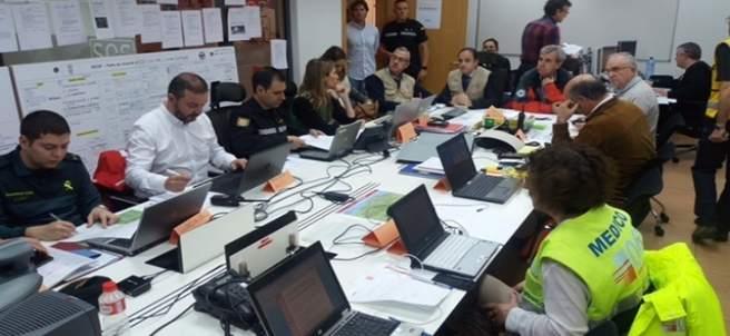 Operativo en el ejercicio de emergencias 'Cantabria 2017' (Archivo)