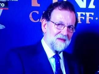 Mariano Rajoy antes de la final de Champions 2017