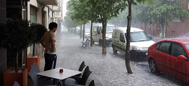 Tormenta de granizo en Soria