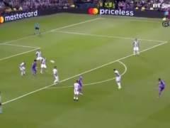 Gol de Casemiro (1-2) en la final de Champions 2017 en Cardiff.