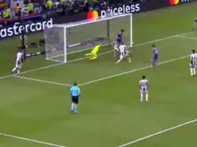 Gol de Marco Asensio (1-4) en la final de Champions 2017 en Cardiff.