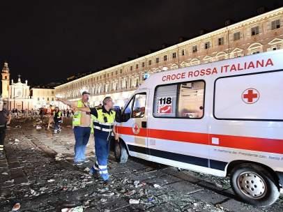 Estampida en Turín