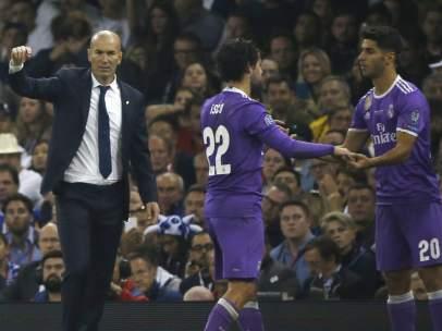 Zidane, Isco y Asensio