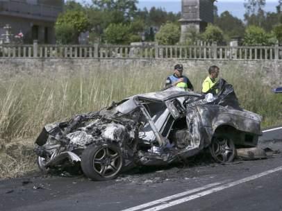 Muertos en un accidente en Rianxo