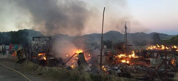Incendio campanillas málaga tres vehículos